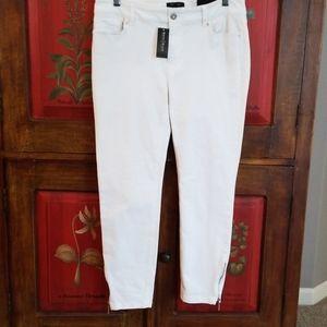 Black House White Market Skinny Crop white jeans.